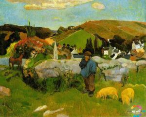خوک چران بریتانی از مهمترین آثار نقاشی جهان