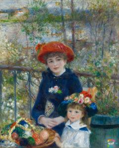 دو خواهر روی تراس از بهترین نقاشی های جهان
