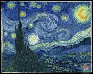 شب بر ستاره از معروف ترین آثار ون گوک