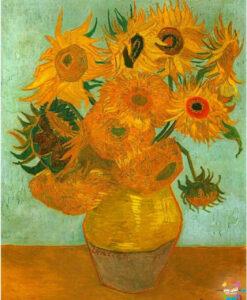 گلهای آفتابگردان از زیباترین نقاشیهای دنیا